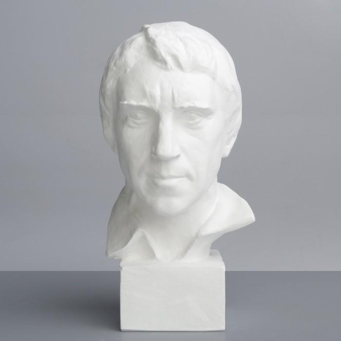 Гипсовая фигура. Известные люди: Бюст Высоцкого, 13.5x15x26.5 см