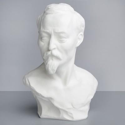 Гипсовая фигура. Известные люди: Бюст Дзержинского, 17x12x24 см