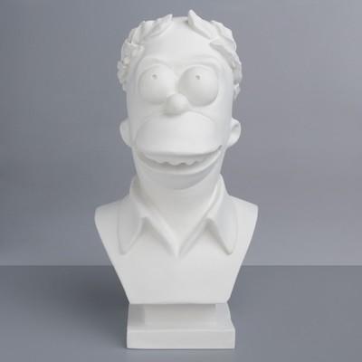 Гипсовая фигура. Известные люди: Бюст Симпсона, 41.5x21.5x22 см