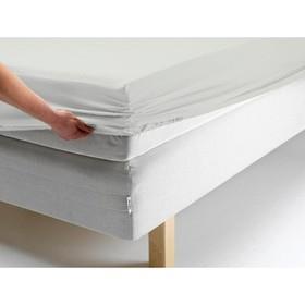Простыня на резинке, размер 140х200х20 см, цвет белый, трикотаж