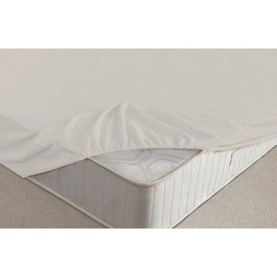 Простыня на резинке, размер 140х200х20 см, цвет молочный, махра 160 г/м2