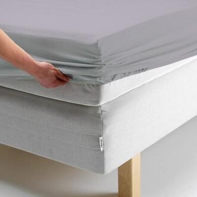 Простыня на резинке, размер 140х200х20 см, цвет серый, трикотаж 125 г/м2