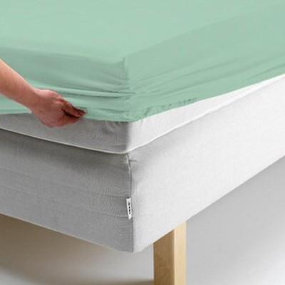 Простыня на резинке, размер 160х200х20 см, цвет ментоловый, трикотаж 125 г/м2