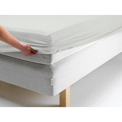 Простыня на резинке, размер 90х200х20 см, цвет белый, трикотаж 125 г/м2