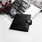 Обложка д/автодок В-35, 9,5*0,5*13,5, 10карманов д/карт, с хлястиком, ящер черный