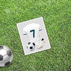 Card mini–format single Celebrity, football, 9 x 10 cm