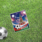 "Card mini–format single ""Moscow"", football 9 x 10 cm"