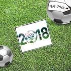 Открытка мини–формата одинарная «2018», футбол, 9 х 10 см