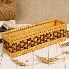 Подставка для чайных пакетиков «Плетёнка», 25х8х7,5 см, береста