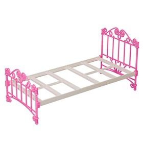 Кроватка, розовая, без постельных принадлежностей, в пакете