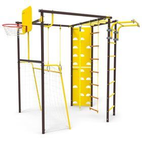 Детский спортивный комплекс уличный-7 «Атлет-Т», цвет шоколад
