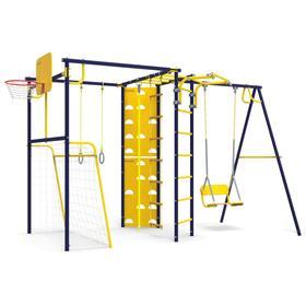Детский спортивный комплекс уличный-7.2 «Атлет-Т» с качелью, цвет ультрамарин