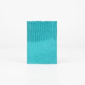 Обложка для паспорта, ящерица, цвет бирюзовый