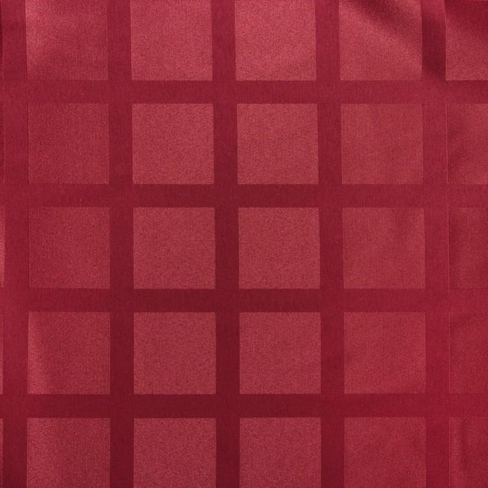 Ткань для столового белья с ГМО Геометрия ш.155, дл. 30 м, цв. винный, пл. 192 г/м2