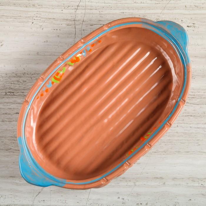 Поддон-гриль для пикника, 45 х 25 х 10 см, терракот