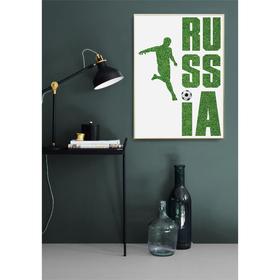 Постер «Россия и футбол», А4 21 х 29 см Ош