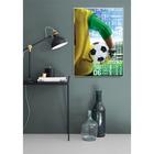 Постер «К победе!», футбол, А4 21 х 29 см