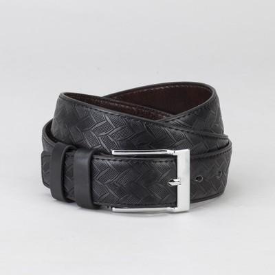 Ремень муж 05-05-02-01, 3*115*0,2см, плетенка, 2 стр, пряжка металл, черный