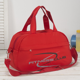 Сумка спортивная, отдел на молнии, наружный карман, цвет красный