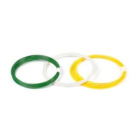 Пластик PLA-3, по 10 м, 3 цвета в наборе