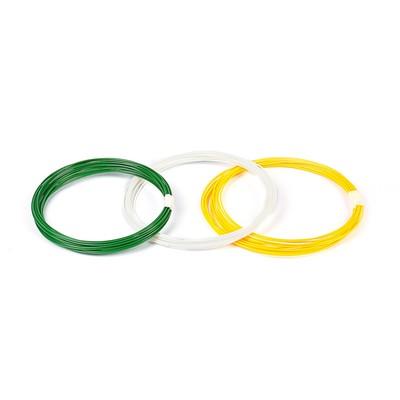 Plastic PLA-3, for 3D pen, 10 m, 3 colors set