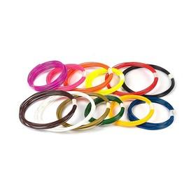 Пластик PLA-12, по 10 м, 12 цветов в наборе