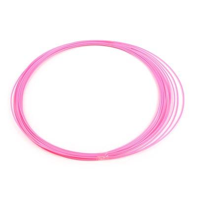 Пластик ABS, для 3Д ручки, длина 10 м, розовый - светится в темноте (УФ лучах)