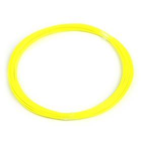 Пластик PLA, для 3Д ручки, длина 10 м, желтый - светится в темноте (УФ лучах) Ош