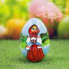 """Яйцо расписное """"Девочка с куличом"""" 7 см"""
