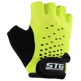 Перчатки велосипедные детские STG AL-03-511, резмер S, цвет зелено-черные