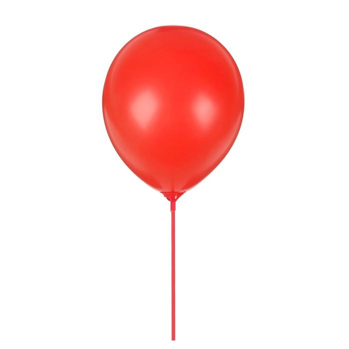 """Шары латексные 10"""" """"Гармония"""" с палочками и держателями, набор 12 шт., цвет красный"""