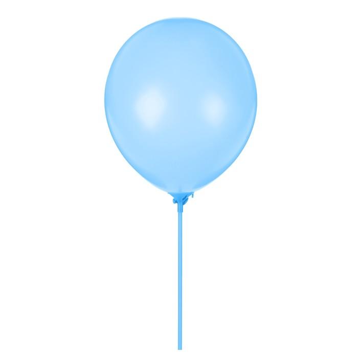 """Шары латексные 10"""" «Гармония» с палочками и держателями, набор 12 шт., цвет синий - фото 308474483"""