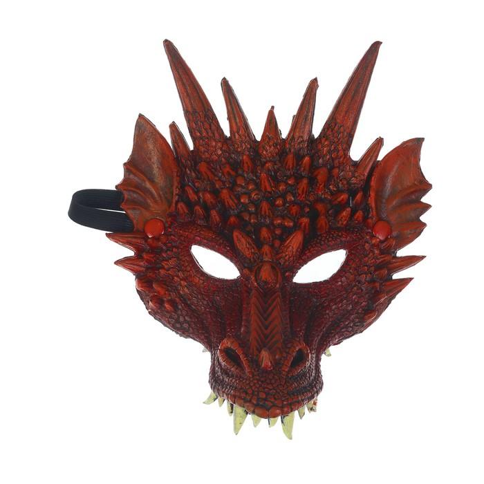 """Карнавальная маска """"Дракон"""", цвет бордовый"""