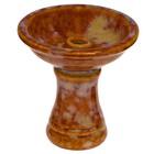 Чаша для кальяна керамика Фанел, коричневый в разводах, 8,5*8,5*8,5 см