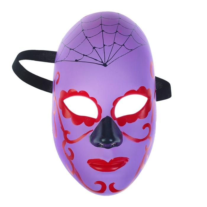 Карнавальная маска «Паутина на голове», цвет фиолетовый