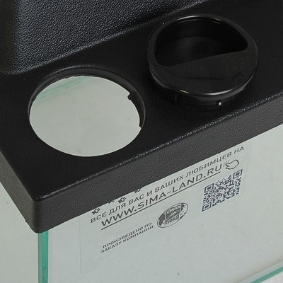 Террариум 12 л, с крышкой, черный