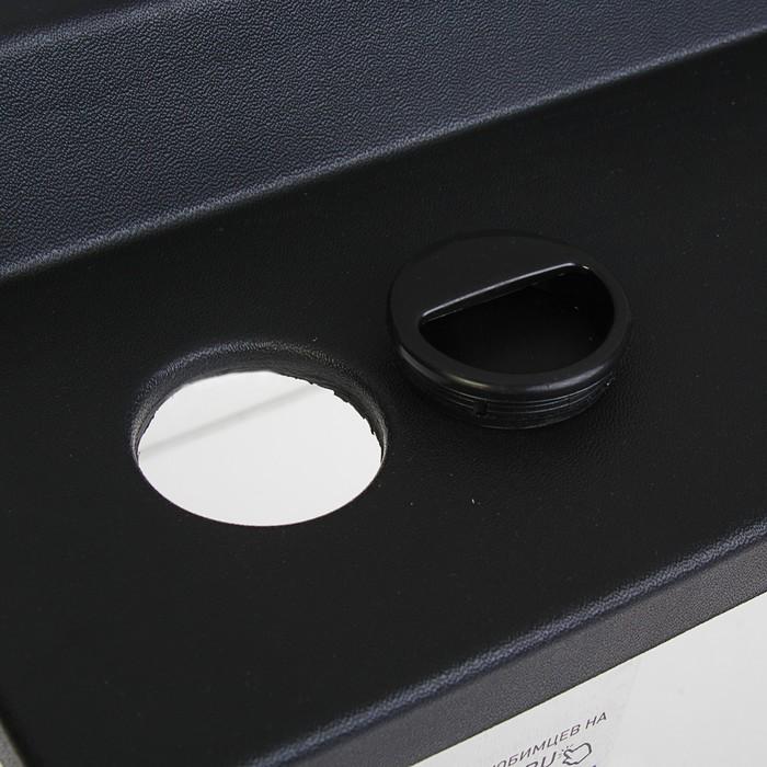 Террариум 98 л, с крышкой, черный