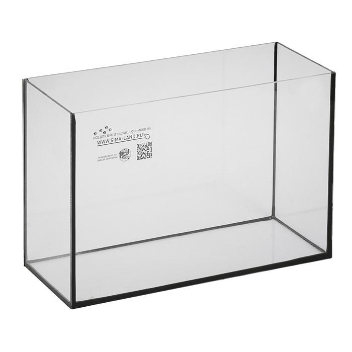 Аквариум прямоугольный Атолл без крышки, 16 литров, 35 х 17 х 27 см