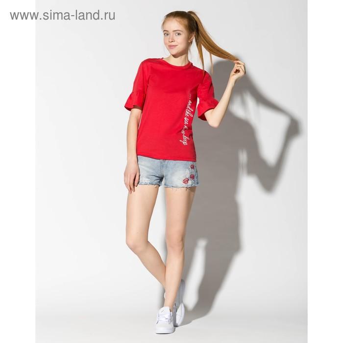"""Футболка женская """"SEA"""" 2051 цвет красный, р-р 44"""