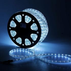 LED шнур 13 мм, круглый, 100 м, фиксинг, 2W-LED/м-36-220V. в компл. набор д/подкл, БЕЛЫЙ Ош