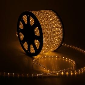 LED шнур 13 мм, круглый, 100 м, фиксинг, 2W-LED/м-36-220V. в компл. набор д/подкл, ЖЕЛТЫЙ Ош