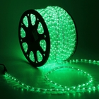 LED шнур 13 мм, круглый, 100 м, фиксинг, 2W-LED/м-36-220V. в компл. набор д/подкл, ЗЕЛЕНЫЙ - фото 1551963