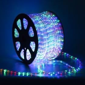 LED шнур 13 мм, круглый, 100 м, фиксинг, 2W-LED/м-36-220V. в компл. набор д/подкл, МУЛЬТИ