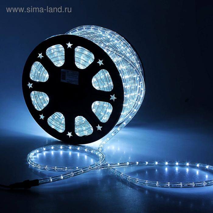 LED шнур 13 мм, круглый, 100 м, чейзинг, 3W-LED/м-36-220V. в компл. набор д/подкл. Белый