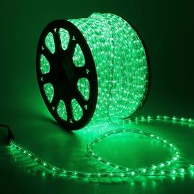 LED string 13 mm, round, 100 m, chasing, 3W-LED/m-36-220V. in compl. set d/div. Green