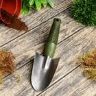 Совок посадочный, длина 26 см, нержавеющая сталь, пластиковая ручка
