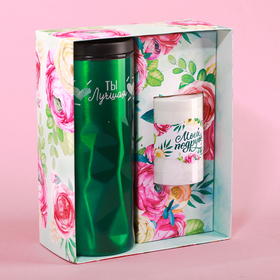 "A set of ""Beloved friend"": the vacuum Cup 550ml, candle"