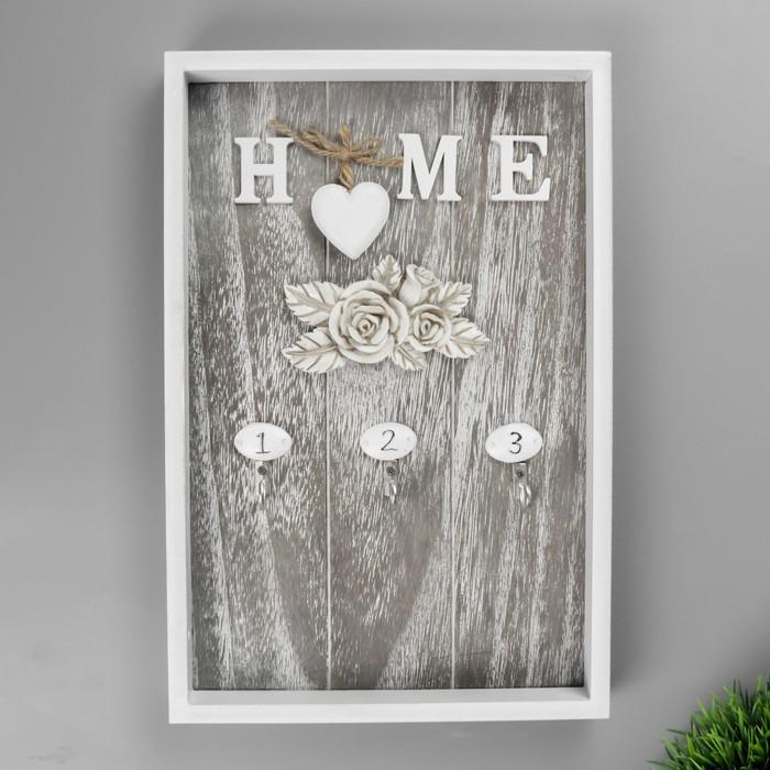 """Крючки декоративные дерево """"Family/Home"""" МИКС 30х20 см - фото 288339654"""