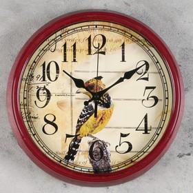 """Часы настенные, серия: Животный мир, """"Хохлатка"""", d=33.5 см микс"""