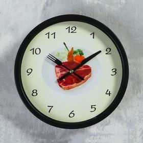 """Часы настенные, серия: Кухня, """"Стейк"""", d=23 см"""